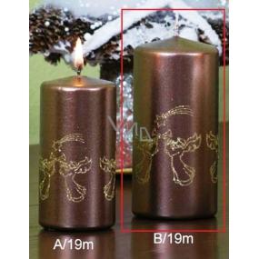 Lima Andělé trubači svíčka hnědá válec 60 x 120 mm 1 kus