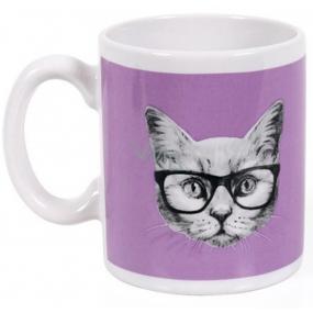 Albi Espresso Hrnek Kočka v brýlích, 100 ml
