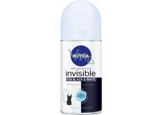 Nivea Invisible Black & White Pure kuličkový antiperspirant roll-on pro ženy 50 ml