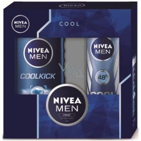 Nivea Men Cool Kick antiperspirant sprej 150 ml + sprchový gel 250 ml + Men krém 30 ml, kosmetická sada