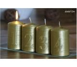 Lima Adventní sada s čísly svíčka zlatá válec 60 x 90 mm