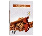 Bispol Aura Cinnamon s vůní skořice vonné čajové svíčky 6 kusů