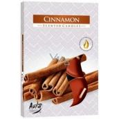 Bispol Aura Cinnamon - Skořice vonné čajové svíčky 6 kusů