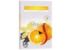 Bispol Aura Vanilla Orange - Vanilka a pomeranč vonné čajové svíčky 6 kusů