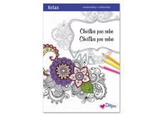 Ditipo Relax Chvilka pro sebe relaxační omalovánky s citáty 16 stran