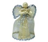 Anděl z abaky se stříbrným lemem 15 cm