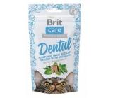 Brit Care Cat Snack Dental Krůta poloměkké doplňkové krmivo pro kočky 50 g
