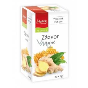Apotheke Natur Zázvor a med ovocný čaj napomáhá k trávení, dýchání a duševní pohodě, 20 x 2 g