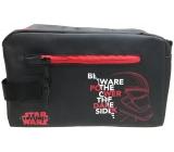 Disney Star Wars etue koženková, černá, červené zipy 24 x 15 x 10,5 cm