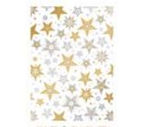 Ditipo Balicí papír Luxusní bílý zlatostříbrné hvězdy 200 x 70 cm