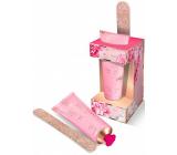 Grace Cole Pink Peony & Vetiver krém na ruce a nehty 50 ml + pilník na nehty, kosmetická sada péče o ruce