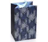 Nekupto Dárková papírová taška luxusní 11 x 17,5 x 8 cm Modrá 2039 LFS