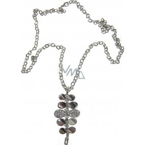 Bižuterie Náhrdelník stříbrný s přívěškem 66 cm