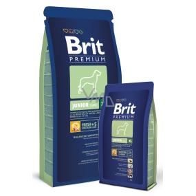 Brit Premium Junior XL pro štěňata psy 4 - 30 měsíců extra velkých plemen 45 -90kg 15 kg Kompletní krmivo