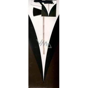 Nekupto Dárková papírová taška na láhev 33 x 10 x 9 cm pánský oblek 1144 02 KFLH
