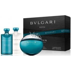 Bvlgari Aqva pour Homme toaletní voda 50 ml + sprchový gel 40 ml + balzám po holení 40 ml, dárková sada
