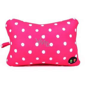Albi Masážní polštář Růžový s puntíky 28 x 19 x 11 cm