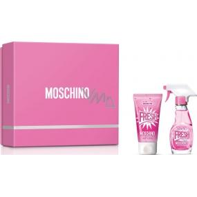 Moschino Fresh Couture Pink toaletní voda pro ženy 30 ml + tělové mléko 50 ml, dárková sada