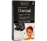 Beauty Formulas Charcoal Aktivní uhlí pásky na nos 6 kusů