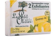 Le Petit Olivier Citron peelingové toaletní mýdlo 2 x 100 g