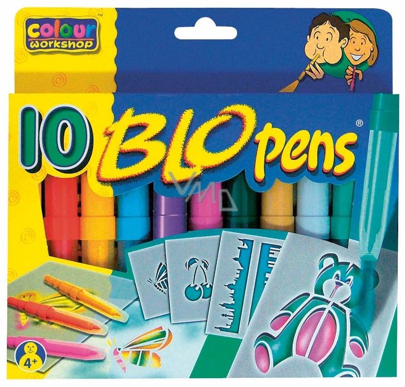 BLO pens COOL Foukací fixy na papír 10 kusů
