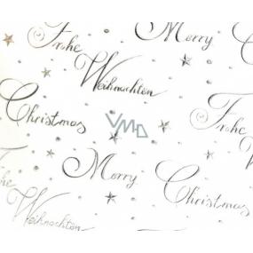 Zöwie Dárkový balicí papír 70 x 150 cm Vánoční Luxusní White Christmas - stříbrný