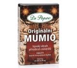 Dr. Popov Originální Mumio s vysokým obsahem přírodních minerálů, udržuje přirozenou imunitu, zdravé klouby, kosti, metabolismus 200 mg 30 tablet