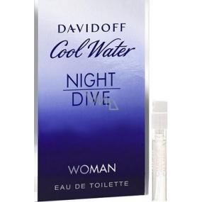 Davidoff Cool Water Night Dive Woman toaletní voda 1,2 ml s rozprašovačem, Vialka