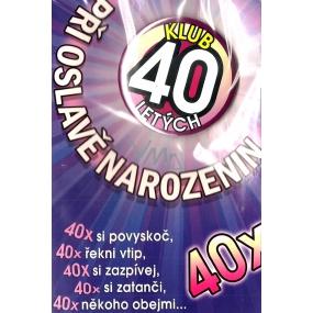 Nekupto Přání k narozeninám Klub 40 letých