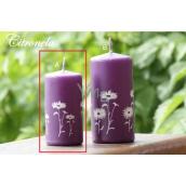 Lima Citronela svíčka proti komárům vonná repelentní s motivem květin fialová válec 50 x 100 mm