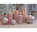 Lima Galaxy svíčka růžová koule 80 mm 1 kus