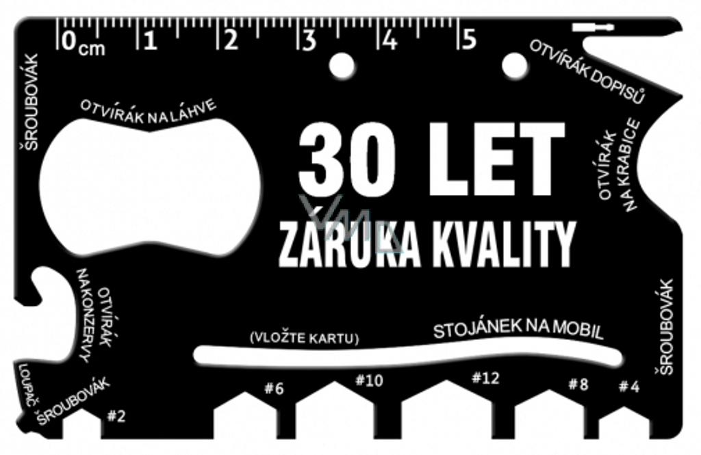 Albi Multinářadí do peněženky 30 Let záruka kvality 8,5 cm x 5,3 cm x 0,2 cm