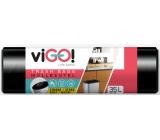 viGO! Pytle na odpad černé, 6 µ, 35 litrů 48 x 57 cm 50 kusů