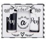 Bohemia Gifts Pán a paní sprchový gel 2 x 100 ml + sůl do koupele 110 g, kosmetická sada pro novomanžele