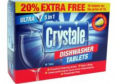 Crystale Ultra 5in1 Lemon Fresh tablety do myčky 18 kusů