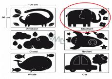 Apli Křídová tabule samolepící - slon 60 x 100 cm