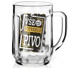 Nekupto Pivní sklenice Vše co potřebuji je pivo 500 ml