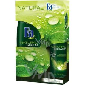 Fa Natural & Care sprchový gel 250 ml + Deodorant sprej 150 ml, kosmetická sada