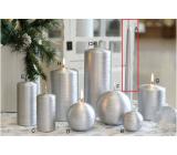 Lima Alfa svíčka stříbrná kužel 22 x 250 mm 1 kus