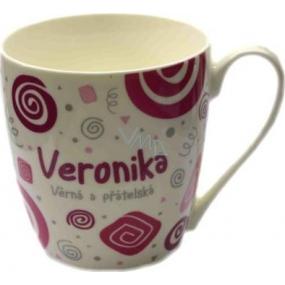 Nekupto Twister hrnek se jménem Veronika růžový 0,4 litru