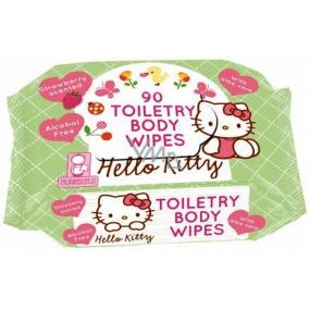 Hello Kitty Toiletry Body Wipes vlhčené ubrousky pro děti 90 kusů