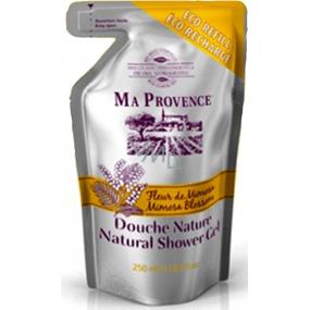 Ma Provence Bio Květ mimózy Pravý přírodní sprchový gel náhradní náplň 250 ml