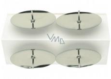 Bodce na svíčky stříbrné v sáčku 5 cm 4 kusy