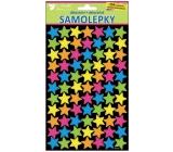 Samolepky neonové hvězdičky 25 x 14 cm 154 kusů