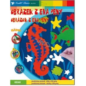Obrázky z EVA pěny Mořský koník 33 x 25 cm