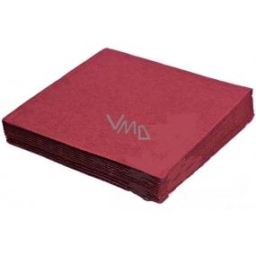 Gastro Papírové ubrousky barevné bordó 2 vrstvé 33 x 33 cm 50 kusů