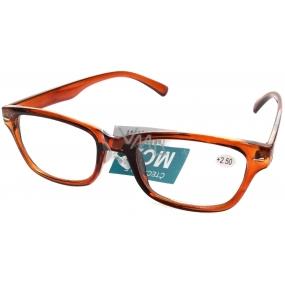 Berkeley Čtecí dioptrické brýle +2,50 plastové hnědé 1 kus MC2079