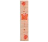 Stuha dekorační 02 oranžová šířka 7,5 cm, délka 2 m