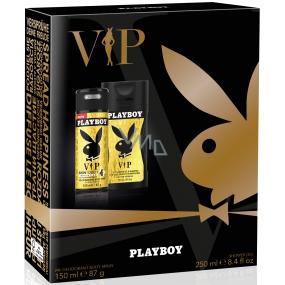 Playboy Vip for Him deodorant sprej pro muže 150 ml + sprchový gel 250 ml, kosmetická sada