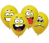 Balónky nafukovací Ksichtíci, k dotvoření 6 kusů